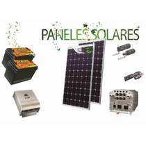 Paneles Solares 500w Kit Completo. Genera 2,000 Wh/dia Aprox