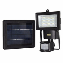 Lámpara Solar De Seguridad 60 Leds Exteriores Panel Solar