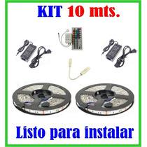 Kit 10 Metros, Tira Led 5050 Rgb 300 Leds, Ip65 Contra Agua