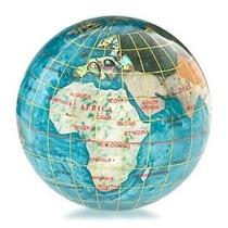 Kalifano 3 Gemstone Globe Pisapapeles Con Bahama Azul Opali