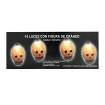 Serie 10 Luces Calavera Halloween Día Muertos Darks E4f