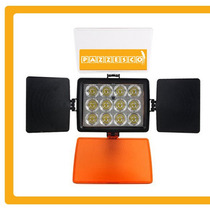 Lámpara Profesional Video 12 Led Súper Luminosidad Canon 12v