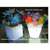 Macetas Jardineras De Luz Led Mdn