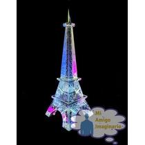 Torre Eiffel Cristal Francia Paris 19 Cm Elegante