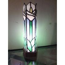 Lámpara Alcatraz Vitral Técnica Tiffany
