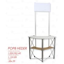 Stand Display Pop Heder , De Aluminio