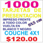 Tarjeta De Presentacion 9x5 Cm Millar Couche 4x1 Yokadi