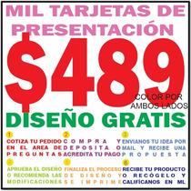 Millar Tarjetas De Presentación A Color 4x4. Diseño Gratis.