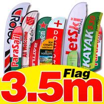 Flag Banner 3.40 Metros Impresas En Sublimación, Banderas