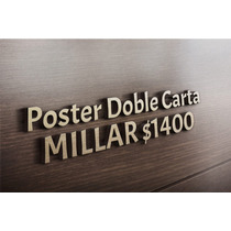 Flyers/ Volantes Doble Carta Color $1,400 Millar, Reverso Bn