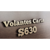 Flyers/ Volantes Carta Color $630 Millar, Reverso Bn