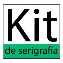Equipo De Serígrafía Completo, Foil, Tintas, Marcos, Raseros
