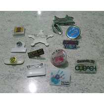 Ciento Pin Plastico Con Resina Fistol Personalizado, Pin-pls