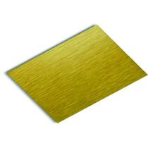 Lamina De Aluminio Oro O Dorado Cepillado Satin Sublimacion