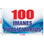 100 Imanes Publicitarios De 5x8 Cms A Todo Color