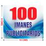 100 Imanes Publicitarios De 9x10 Cms A Todo Color