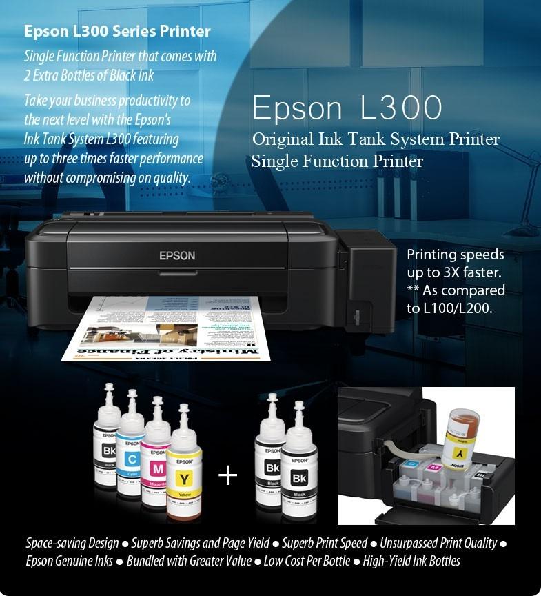 Impresora Epson Con Tinta Recargable Impresora Epson L300 Tinta