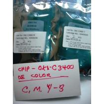Chip Oki C3400 Cian, Magenta, Yelow, Black
