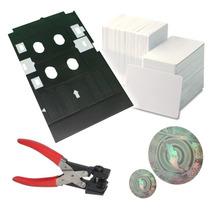 Kit Credenciales Pvc, Charola, Tarjetas T50, L800,hologramas