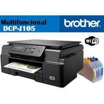 Multifuncional Brother Dcp J105 C/ Sistema De Tinta Continua