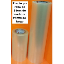 Rollo Papel Transfer Adhesivo Transparente Plotter 61cm