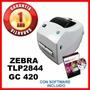 Impresora De Etiquetas Codigo De Barras Zebra Gc420t Tlp2844