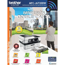 Multifuncional Brother Color Mfcj6720 Doble Carta Wifi