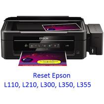 Reset Almohadillas Epson L110, L210, L300, L350, L355