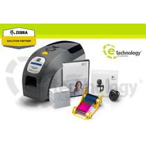 Kit Impresora De Credenciales Zebra Zxp Series 3 Una Cara