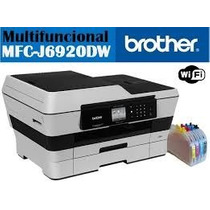 Impresora Brother Mfc J6920dw Con Cartuchos Rellenables