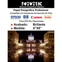Papel Fotográfico Brillante 6x8 100 Fotos