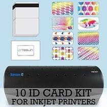 Kit Tarjeta 10 Id - Laminador De Inyección De Tinta Teslin M