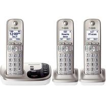 Kit 3 Telefonos Inalambricos Panasonic Tgd223 Dect 6.0 Msi