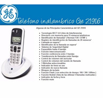 Teléfono Inalambrico Ge General Electric Dect Pantalla Lcd