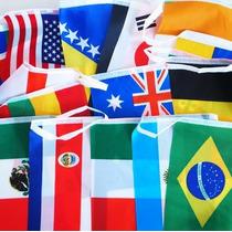 Banderines, Paq Con 32 Banderas De Países