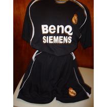 Uniforme Genérico Futbol Del Real Madrid Negro En Unitalla
