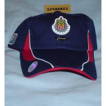 Gorra De Chivas -azul- Originales !!!