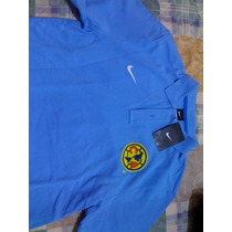Club America Playera Polo Marca Nike Talla Mediana De Adulto