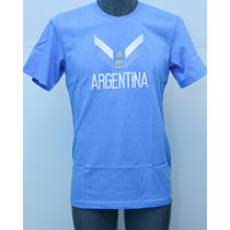 Playera Adidas Argentina Casual Algodón Mundial Brasil 2014