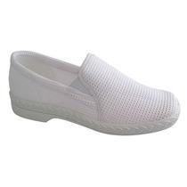 Zapato De Trabajo Blanco 24 Damas Deslizante Settia