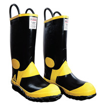 Botas Para Bombero Caballero Negro/amarillo 32 Croydon