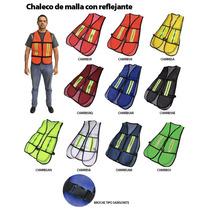 Chaleco De Malla Reflejante C/broche