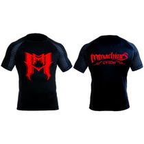Rashguard Mmachines Logo M Red Short Sleeve Mma Bjj Talla M