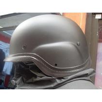 Casco Táctico Militar Airsoft Gotcha Tipo Kevlar Fibra D Vid