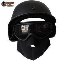 Combo Para Gotcha Casco Tipo Kevlar Goggles Swat 1/2 Mascara