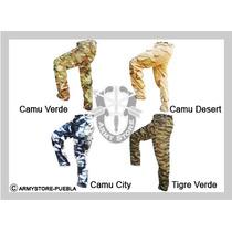 Pantalon Para Gotcha Color Verde, Atrigado Urbano Selva Army