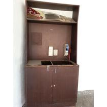 261- Muebles Para Cafeteria En Madera Acabado Chocolate..