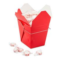 Paquete De 100 Cajas Rojas Para Comida China Con Asa 32oz