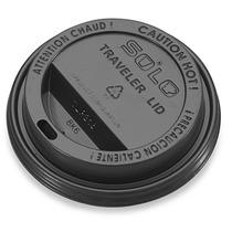 1000 Tapas Negras Para Vaso Termico 12 Y 16 Oz Cafeterias