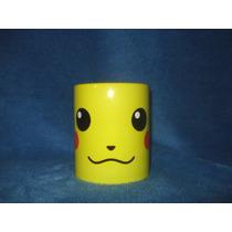 Taza Pokemón Pikachu Personalizada Amarilla Personajes